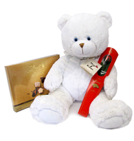 White Big Valentine Gift Teddy Bear