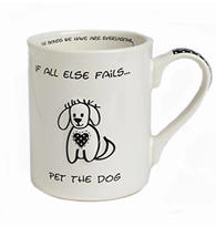 Mug with a dog and a message